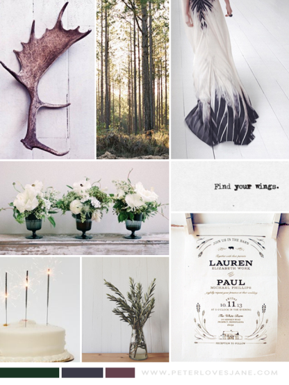 Peter Loves Jane_woodland wedding inspiration board