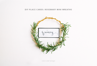Rosemary mini wreaths_holiday place cards