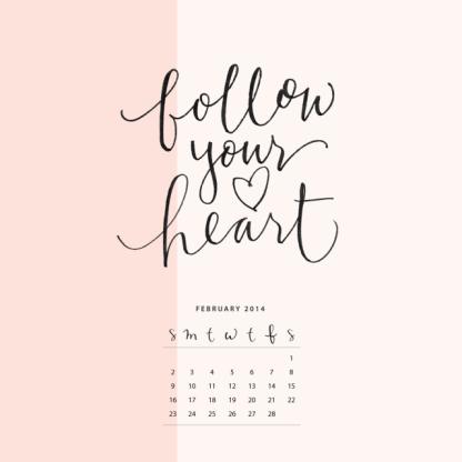 February calendar_ipad download_wallpaper
