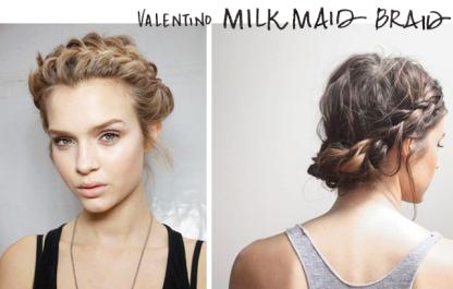 Marks and Spencer_Grammy red carpet hair_Valentino milkmaid braid